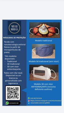 Máscara de proteção tecido antiviral