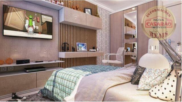Apartamento com 2 dormitórios à venda, 77 m² por R$ 419.958 - Maracanã - Praia Grande - Foto 2