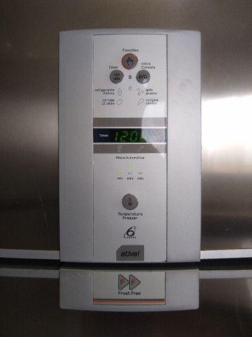 Refrigerador Brastemp Frost Free Duplex Ative Brm47b Inox - Foto 3