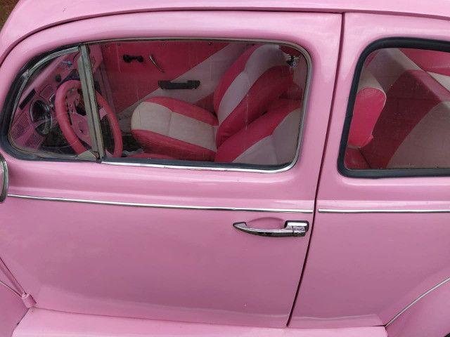 Fusca Rosa Impecável - Foto 4