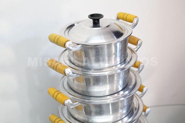 Jogo de panelas de aluminio batido  - Foto 2