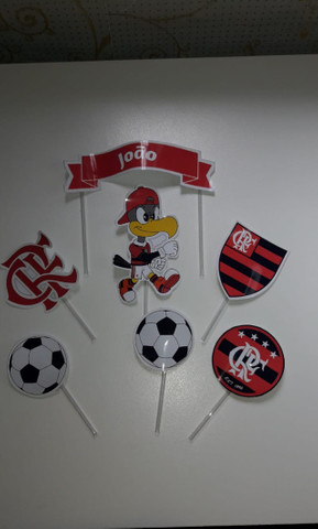 Topo de bolo: Flamengo