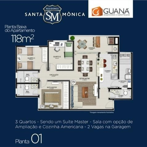 Vendo apartamento no Condomínio Santa Mônica Residence 3 dorm (1 suíte) - Foto 17