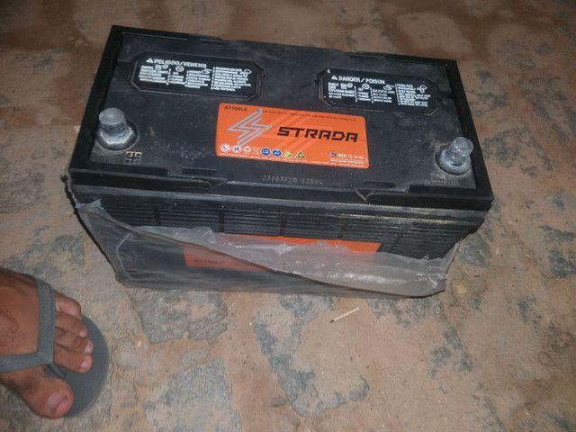 Bateria 100Ampéres bem novinha fabricação 2020  - Foto 5