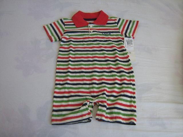 edf9afd40 Macacão polo infantil unissex, George Baby, tamanho de 9 a 12 meses