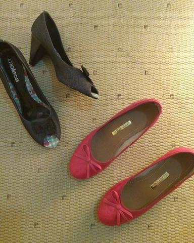 41fbbfa0b9 Sapatilhas e sandalias peep toe tam 37 Moleca e outras marcas ...