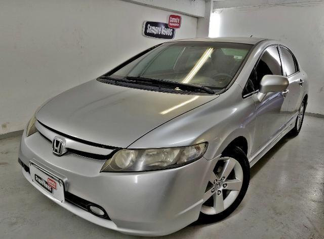 Honda Civic LXS 2008 completo. Pneus novos. Todo revisado