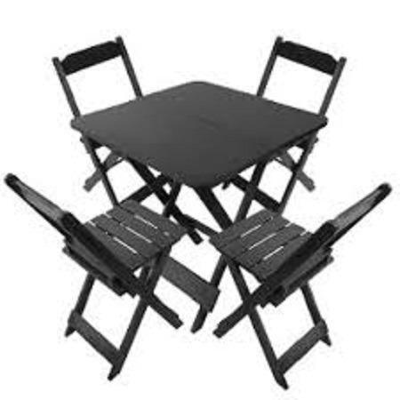Grande Liquidação - Mesa e Cadeiras Dobráveis de Madeira - Linha Especial - Foto 2