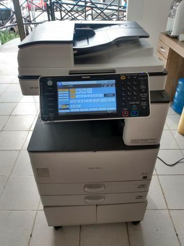 Copiadora e Impressora A3 Ricoh Aficio MP 3053 Preto e Branco