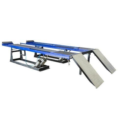 Rampa de alinhamento pneumatica 4 toneladas MR4000R xadrez azul