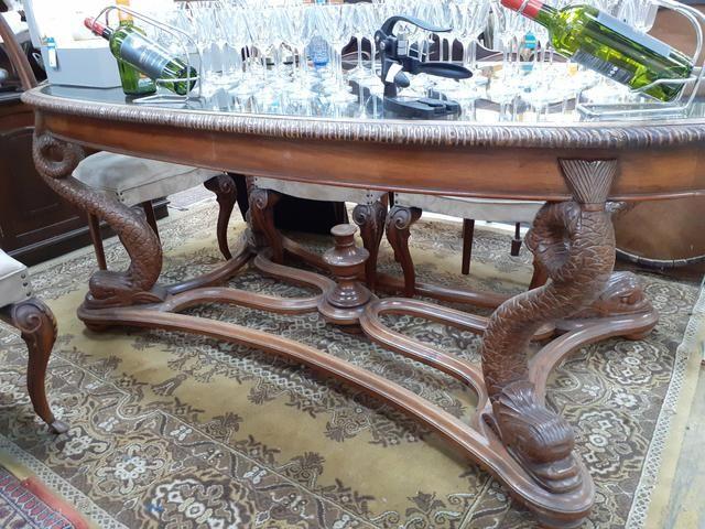 MESA ANTIGA EM CEREJEIRA COM 6 CADEIRAS Mercado das Pulgas *10X parc. - Foto 4