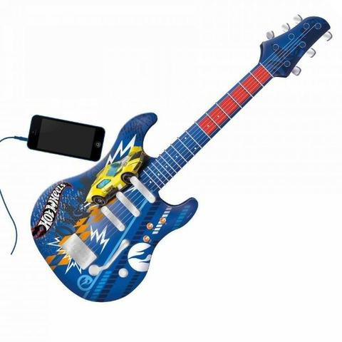 Guitarra Infantil Hot Wheels Azul Fun 8422-4 - Foto 2