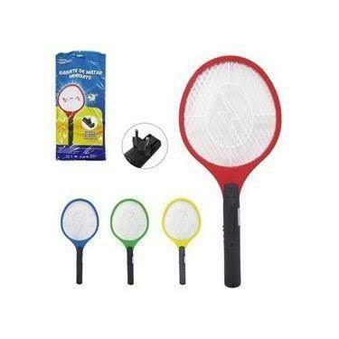Raquete Para Matar Mosquitos E Moscas Recarregável110/220