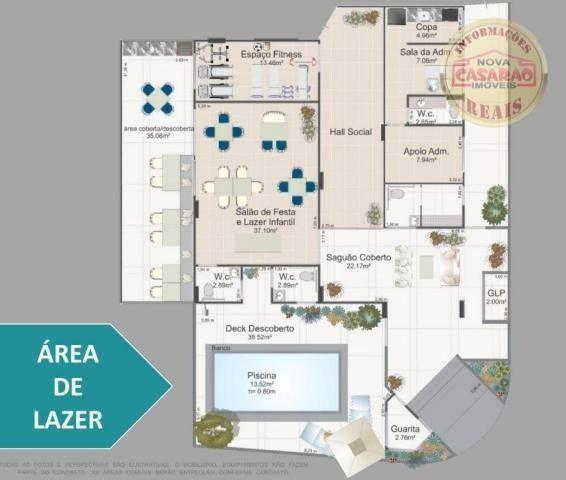 Apartamento com 1 dormitório à venda, 42 m² por R$ 212.150,00 - Balneário Flórida - Foto 5