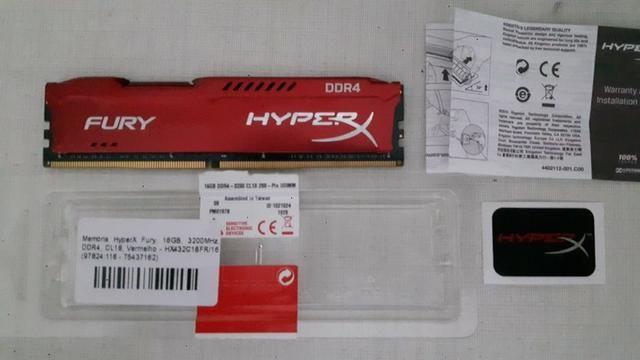 Memória Hyperx Fury 16gb 3200mhz Ddr4 Vermelho - HX432C18FR/16 - Foto 3