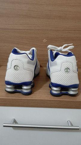 Nike Shock azul e branco  - Foto 3
