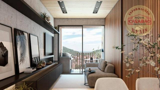 Apartamento com 1 dormitório à venda, 45 m² por R$ 207.000,00 - Canto do Forte - Praia Gra - Foto 2
