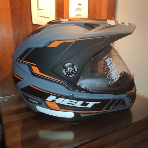 Capacete para moto cross Helt Cross Vision Triller laranja tamanho 62 - Foto 3