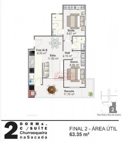 Apartamento com 01 dormitório na Vila Mirim, Praia Grande - Foto 4