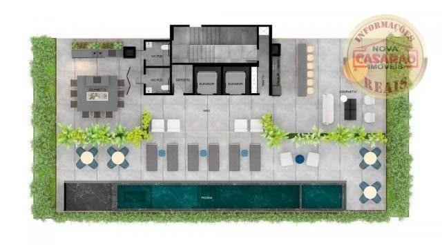 Apartamento com 1 dormitório à venda, 45 m² por R$ 207.000,00 - Canto do Forte - Praia Gra - Foto 11