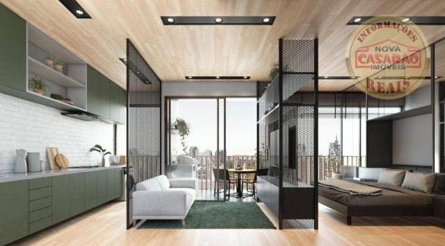 Apartamento com 1 dormitório à venda, 45 m² por R$ 207.000,00 - Canto do Forte - Praia Gra - Foto 3
