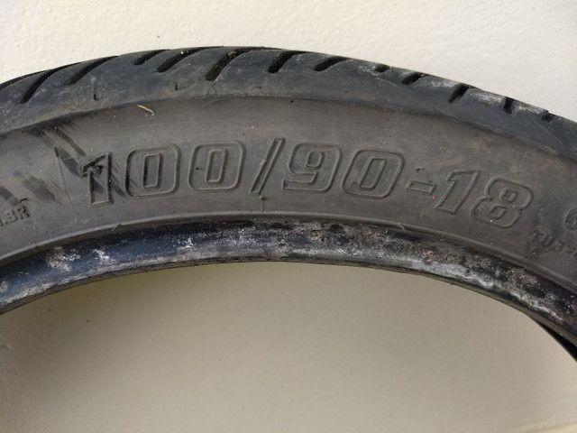 Par de pneus cg,ybr,cbx 150,200 - Foto 4
