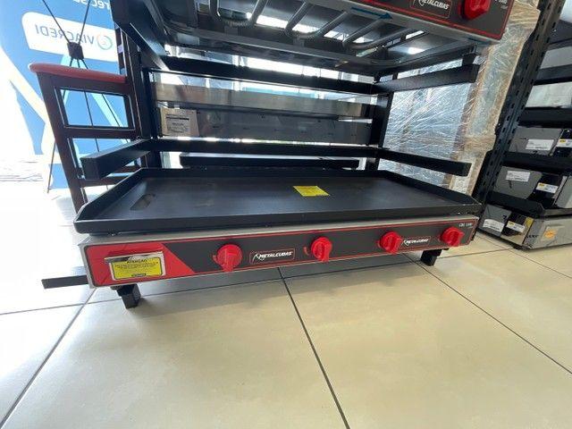 Chapa bifeira MetalCubas Gás - 120 x 52,5 cm - Wanderson