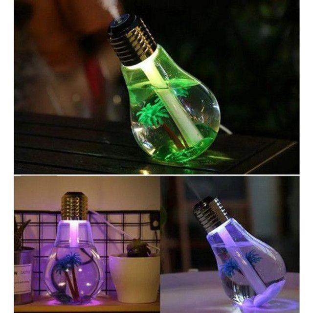 Umidificador de ar  lâmpada led usb luzes casa