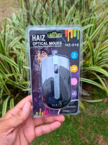 ?Mouse Óptico Haiz Com Fio Usb 2.0 Haiz 1000dpi Hz-018??<br> - Foto 2