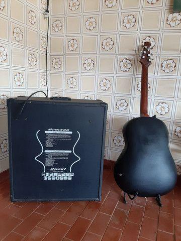 Violão Giannini e caixa  - Foto 2