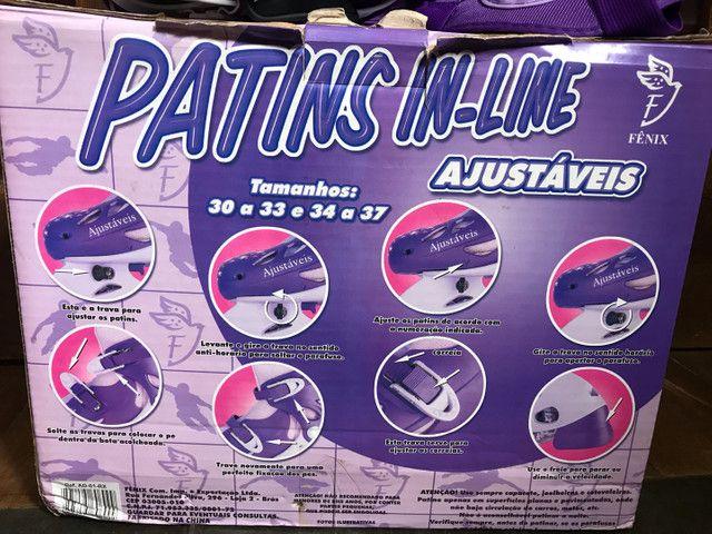 Patins In-Line Ajustável (n°34 a 37) - Foto 3