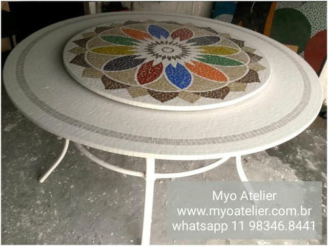 Mesa mosaico jantar varanda moveis - Foto 2