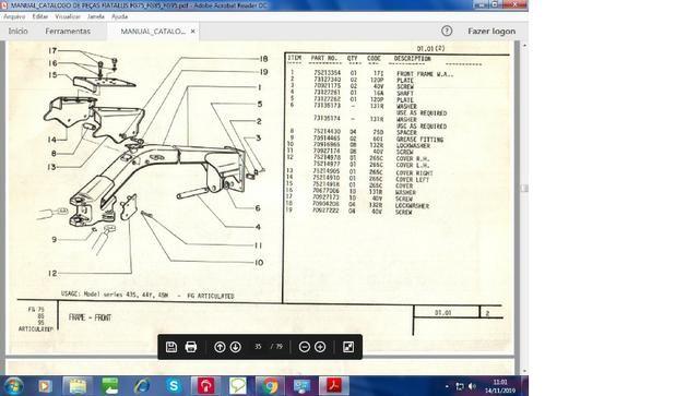 Catálogo peças, manual, Ad7b, Uniport, FG85, FR12, FB80, 70ci, FH200, 4CT - Foto 8
