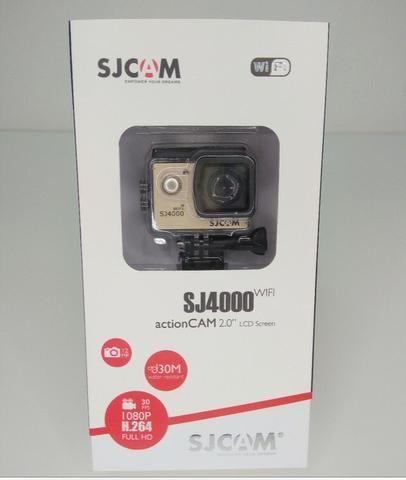 SJ4000 Wi-Fi com microfone extremamento ótima para motovlog! Preço pra vender hoje!
