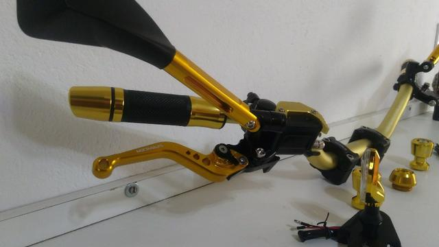Kit Gold Special, Black, Red, Blue honda Del rey , Prata niquelado - Foto 4