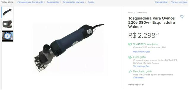 Tosquiadeira Profissional Maxisherar F7 R$ 1.000,00 - Foto 5
