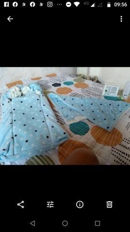 Ninho felpudo +manta+travesseiro - Foto 2