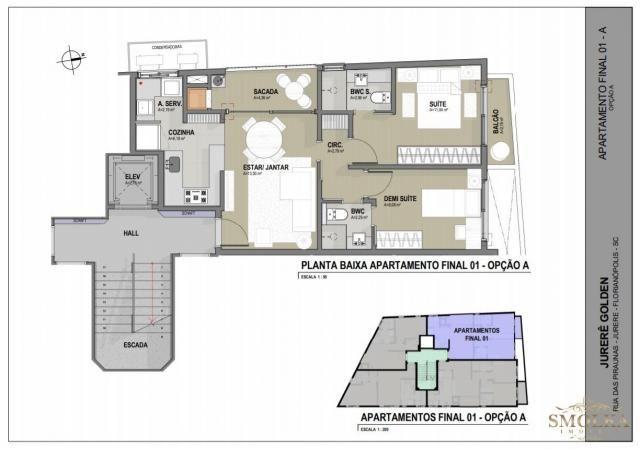 Apartamento à venda com 2 dormitórios em Jurerê, Florianópolis cod:9402 - Foto 4