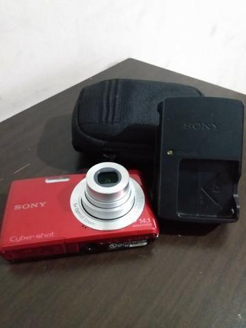Câmera Digital Sony, Cyber-Shot, 14,1 M.P. Vermelha - Foto 6