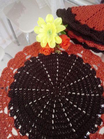 Kit sousplat em crochê 4 peças - Foto 4