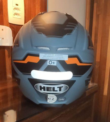 Capacete para moto cross Helt Cross Vision Triller laranja tamanho 62 - Foto 4