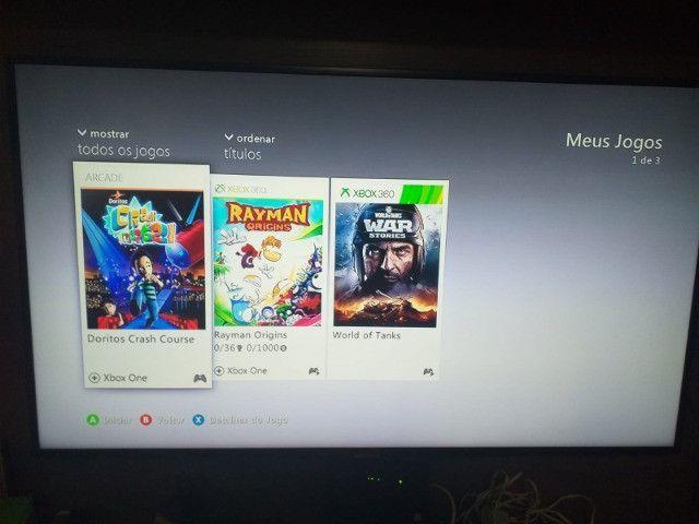 Xbox 360 Bloqueado/Travado + Kinect + 2 Controles + 6 Jogos - Foto 4