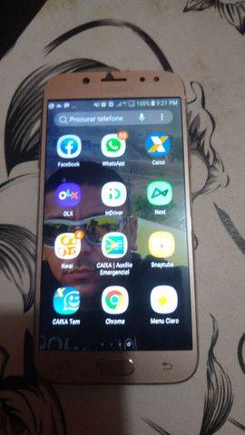 J5 pro sem marca de usu apenas um trinco pequeno na tela  - Foto 3