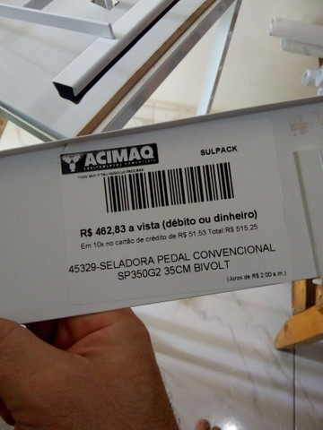 Seladora de Pedal (nota fiscal) - Foto 2