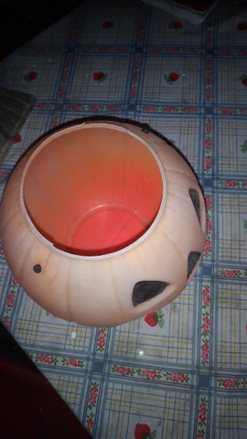 Cabeça de Abóbora de plástico boa.Leia a Descrição - Foto 4