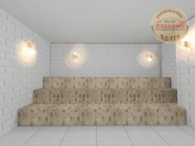 Apartamento com 1 dormitório à venda, 46 m² por R$ 232.000 - Vila Caiçara - Praia Grande - Foto 5