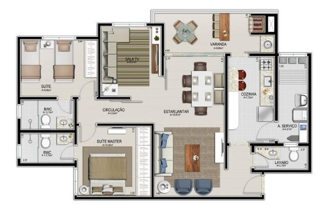 Vendo apartamento no Condomínio Santa Mônica Residence 3 dorm (1 suíte) - Foto 18