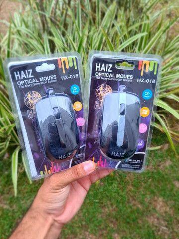 ?Mouse Óptico Haiz Com Fio Usb 2.0 Haiz 1000dpi Hz-018??<br>
