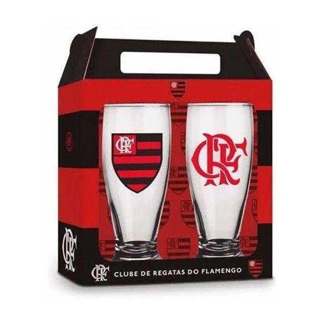 Conjunto 2 Copos Tulipa 200ML Flamengo - Foto 2