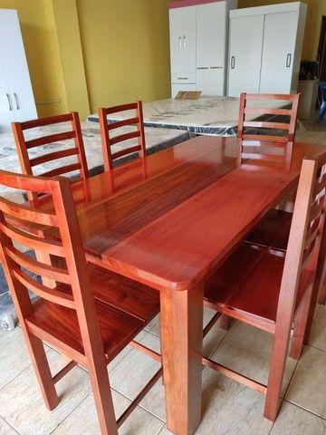Mesa macacauba 6 cadeiras
